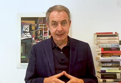 """José Luis Rodríguez Zapatero """"No habrá una causa que pueda ser más noble»"""